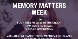 Memory Matters week video